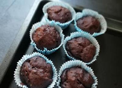 Słoodkie powroty - czyli czekoladowe muffiny w zdrowszej wersji.