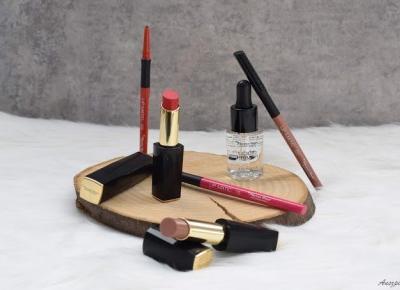 Trio od Pierre Rene: pomadki Cashmere Lipstick, konturówki do ust Lip Matic, utrwalacz do makijażu Liquid Primer   Anszpi