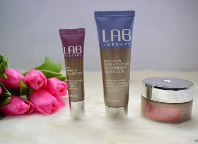 Produkty Lab Therapy od Lirene: krem pod oczy, maska do masażu twarzy, maska całonocna | Anszpi