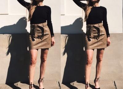 Leather skirt x heels – BABAJA