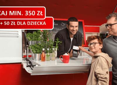 Zyskaj min. 350 zł za konto w Santander Banku + 50 zł za konto dla dziecka + jeszcze więcej w pozostałych promocjach!