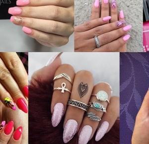 Basia Smoter Blog - blog kosmetyczny, blog lifestylowy. Opinie, trądzik, włosy, paznokcie, kosmetyki: Różowe paznokcie. Zdobienia paznokci pink nails. HIT czy KIT? Różowe paznokcie z brokatem. G