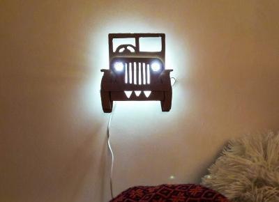 Jak zrobić lampkę nocną z tektury DIY?