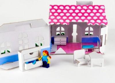 Jak zrobić domek z tektury dla lalek? | Bawimy się tekturą