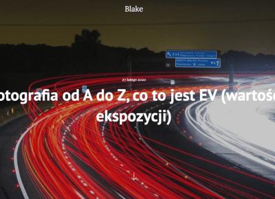 Fotografia od A do Z, co to jest EV (wartość ekspozycji) - Blake