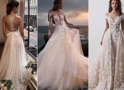 Najpiękniejsze suknie ślubne w różnych stylach !