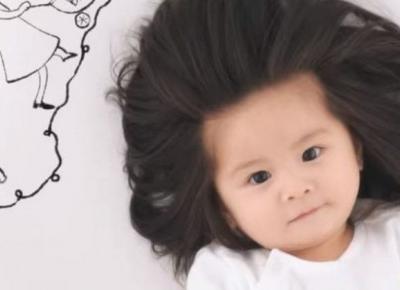 Roczna dziewczynka została nową ambasadorką szamponów Pantene!