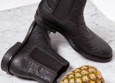 Wegańskie buty z ananasa?