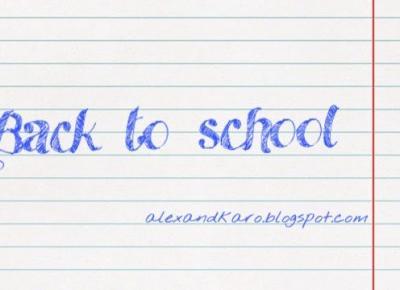 BACK TO SCHOOL    aplikacje