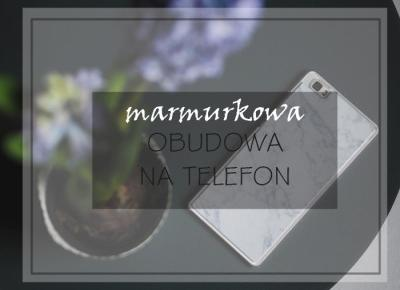 Marmurkowa obudowa na telefon | Trendmania.pl