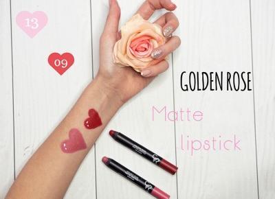 Golden Rose Matte Crayon Lipstick - matowe pomadki do ust w kredce 13 i 09 - Ada Zet