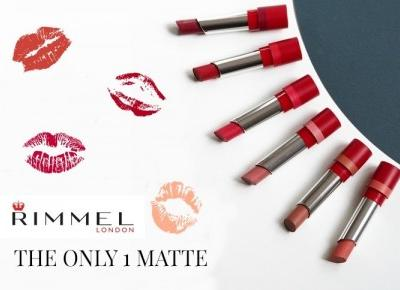 RIMMEL THE ONLY 1 MATTE - recenzja i swatches.