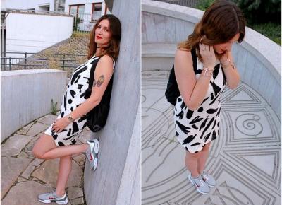Black & White Dress - Sporty Style | FLAMING BLOG