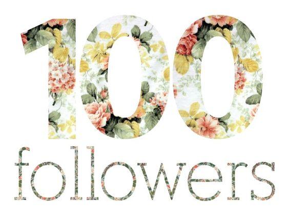 Suzane Catherine Blog: 100follow!
