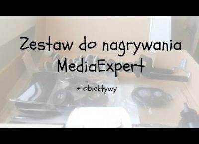 Zestaw do nagrywania MediaExpert + obiektywy