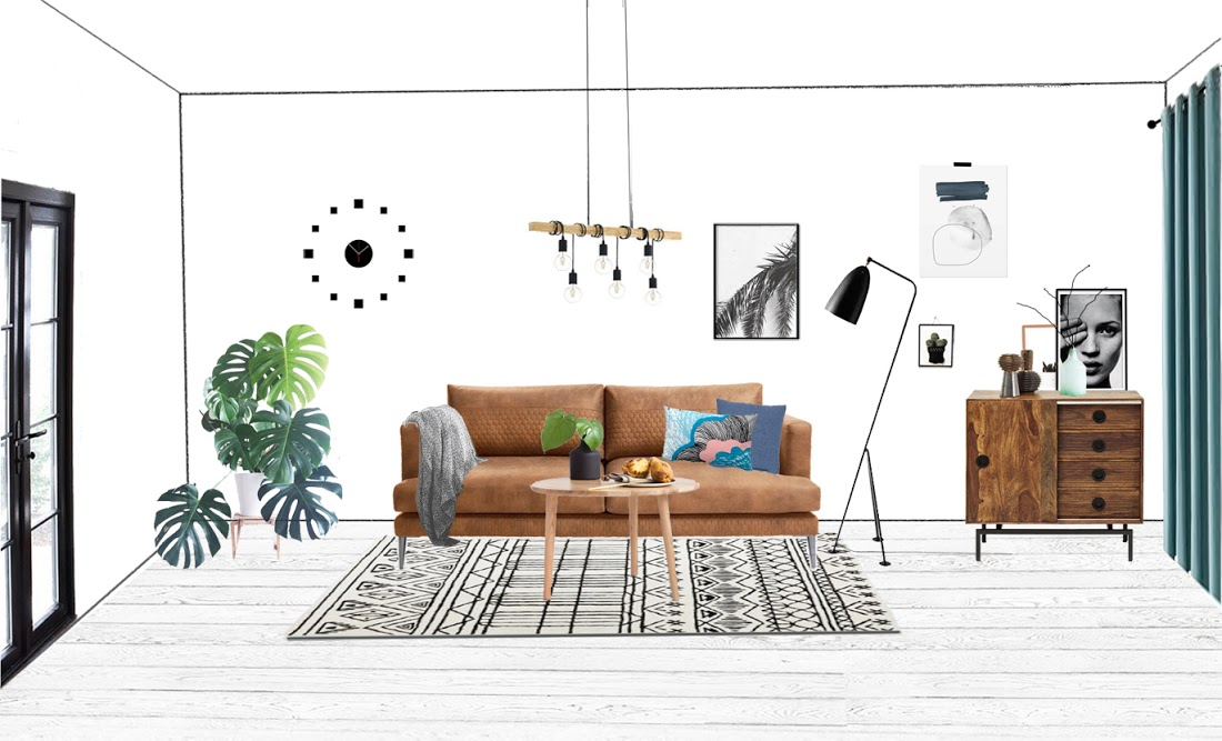 Projekt salonu - znajdź różnice ;) | Design Your Home with me