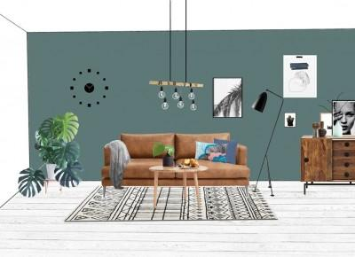 Projekt salonu w zieleni | Design Your Home with me