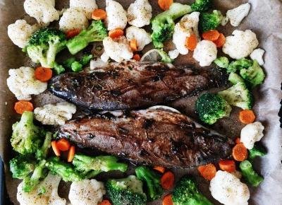 Pstrąg pieczony z warzywami – DUŻO SMAKU