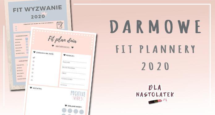 Darmowe FIT plannery 2020 | DlaNastolatek.pl
