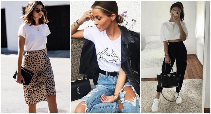 Letnie stylizacje z białym T-shirtem | DlaNastolatek.pl