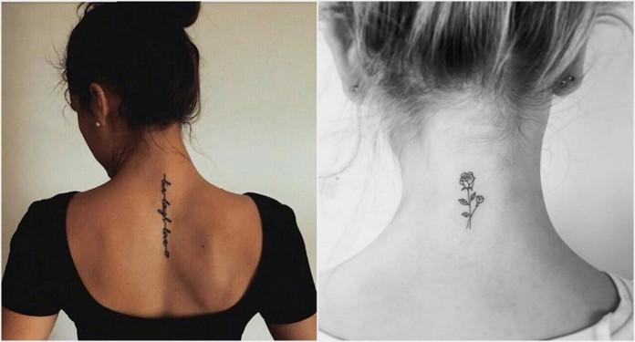 Dziewczęce tatuaże idealne na kark | DlaNastolatek.pl
