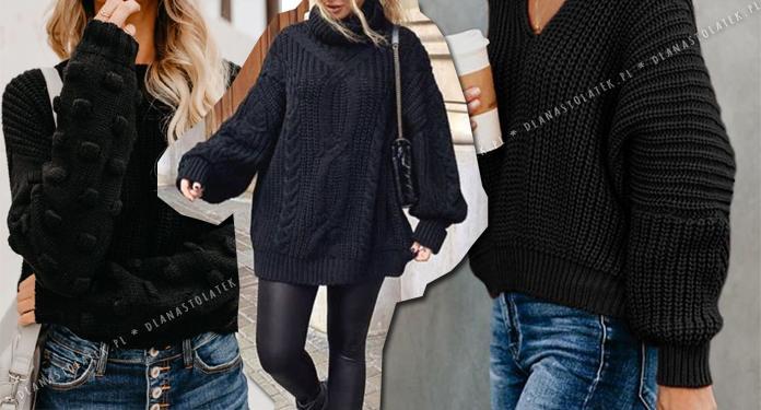 Zimowe stylówki z czarnym swetrem | DlaNastolatek.pl