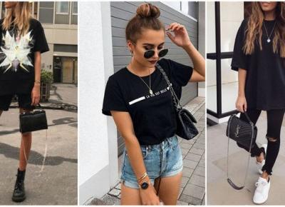 Letnie stylizacje z czarnym T-shirtem | DlaNastolatek.pl