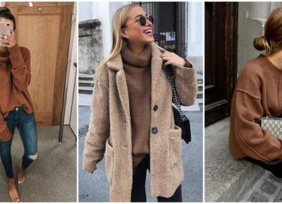 Modne stylizacje z brązowym swetrem | DlaNastolatek.pl