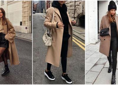 Modne stylizacje z beżowym płaszczem | DlaNastolatek.pl