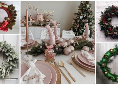 DIY - stroik świąteczny na stół lub drzwi | DlaNastolatek.pl