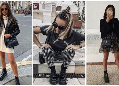 Jesienne stylizacje z ciężkimi butami | DlaNastolatek.pl