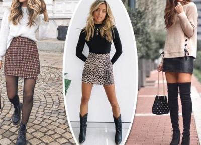 Zimowe stylizacje ze spódnicą mini | DlaNastolatek.pl