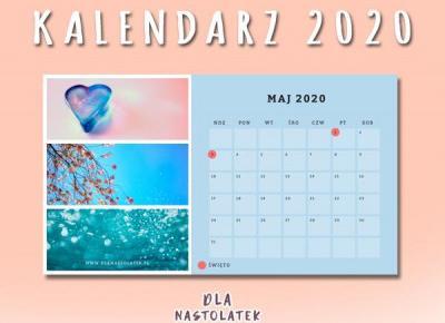 Darmowy kalendarz na 2020 rok | DlaNastolatek.pl