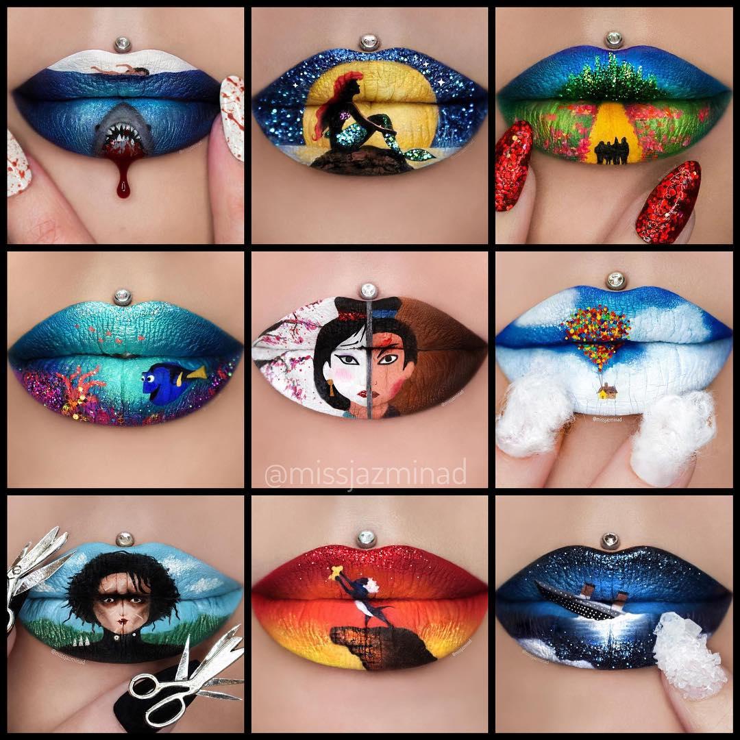 Niesamowite obrazy na ustach!