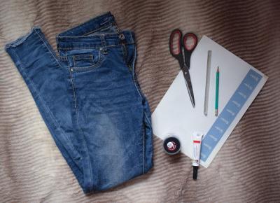 DIY: Jeansy w czarne gwiazdy