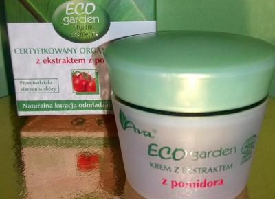 Certyfikowany organiczny krem Eco garden z ekstraktem z pomidora od Ava laboratorium - recenzja