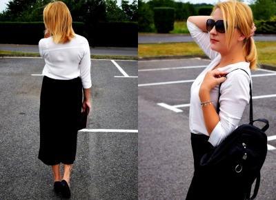 Czarne spodnie culottes