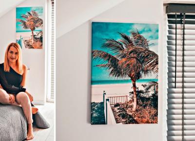 Nasze domowe wnętrza – sypialna + kubańska fotografia na płótnie