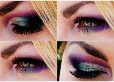 Cut crease i rzęsy na pasku - Noblelashes