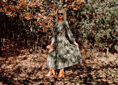 Oliwkowa sukienka maxi – moje zamówienie z Bonprix