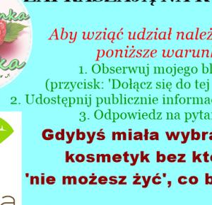 Dziewczynka jak Malinka: KOSMETYKOWE LOVE - KONKURS!!