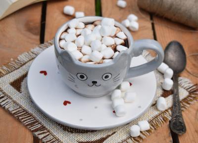 Sweet baking: Miętowa gorąca czekolada z mini piankami