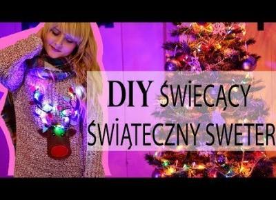 Świąteczny Sweter ze Światełkami i Reniferem! | DIY