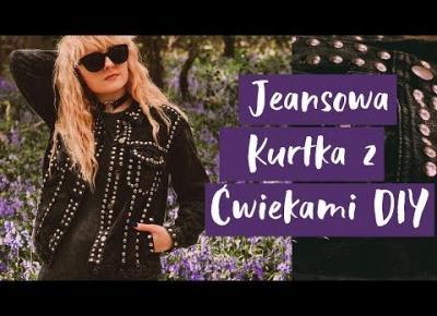 Jeansowa Kurtka z Ćwiekami DIY | Rock Punk Detale