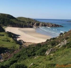 Plaża w Durness Szkocja - Fashionvoyager