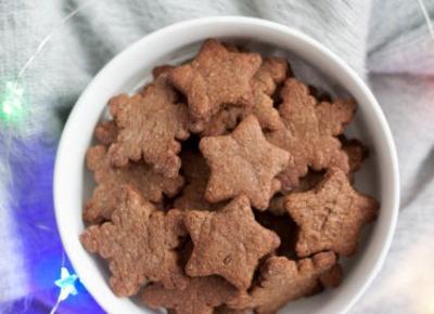 Pierniczki z masłem orzechowym i karobem - Fitkot