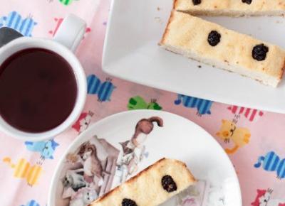Kokociasto, czyli ciasto kokosowe z morwą czarną (bez cukru) - Fitkot