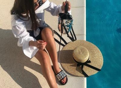 Vacation 18'  Jacquemus look - Alexander Wang sequin bag + One Teaspoon shorts | Gabruszel