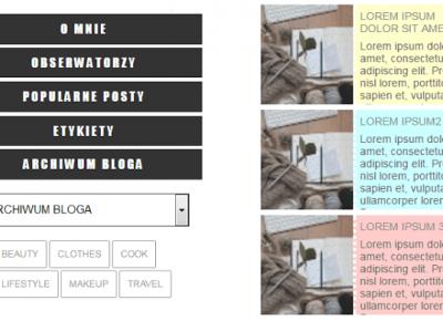 Zrób ze mną pasek boczny! - kilka kodów CSS - Galantyka