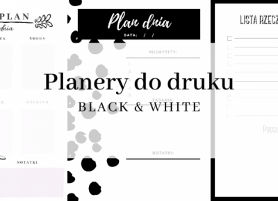 Planery do druku: Black & White  | Gangstyle